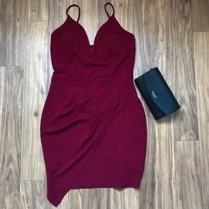 🌞Trac | Dark red mini dress
